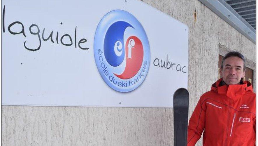 Jérôme Roux a dirigé l'École du Ski Français avec sa compagne cet hiver.
