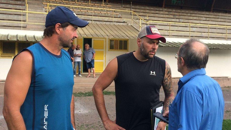 Les entraîneurs, ici en compagnie de Christian Murat, ont hâte de retrouver Camille-Guibert.