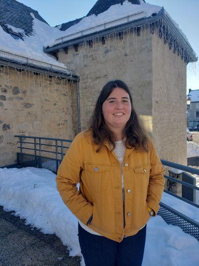 Hélène del Farra, arrivée en janvier au poste de chargée de projet culturel au sein de la Mairie d'Argences en Aubrac