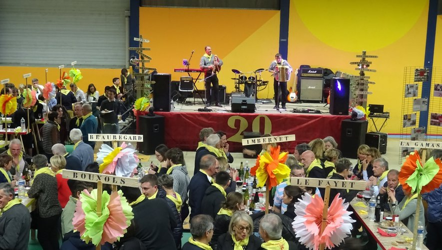 Le festival des Boeufs gras donne habituellement lieu à de joyeuses ripailles, comme ici lors de l'édition 2017..