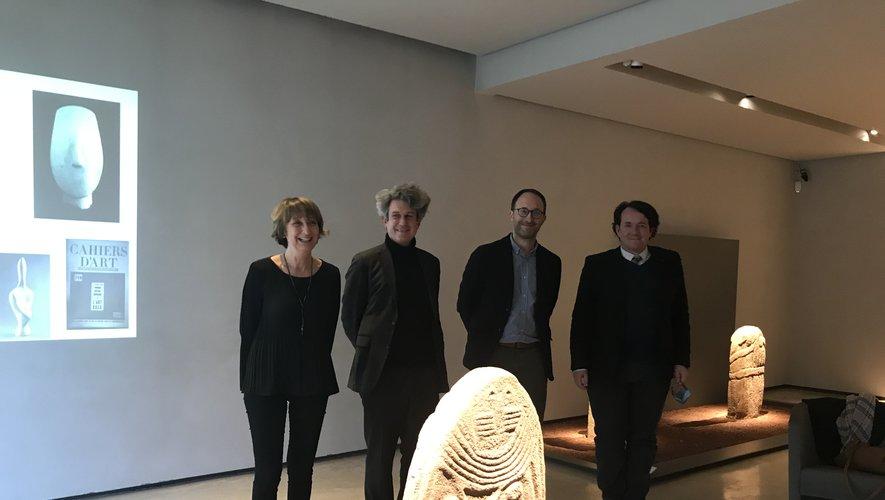 Les conservateurs du Louvre ont fait le déplacement jusqu'à Rodez pour présenter l'exposition aux côtés  d'Aurélien Pierre.