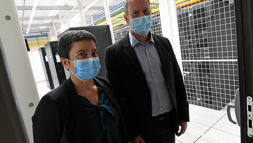 Pascal Duprat, directeur général adjoint du Crédit Agricole et la directrice générale d'Inforsud Technologies, Audrey Girmens.