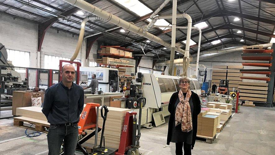 Cyril Guesdon, directeur de production et Juliette Rapinat Freudiger, directrice générale, dans les locaux actuels, zone de Cantaranne, à Onet.