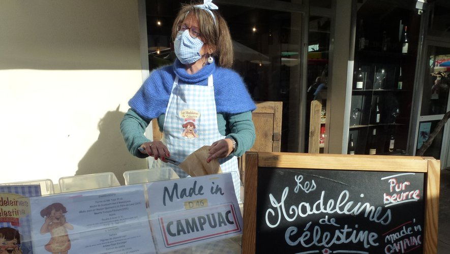 """Avec les """"madeleines de Célestine"""", Céline Soulignac contribue à la vitalité du marché."""