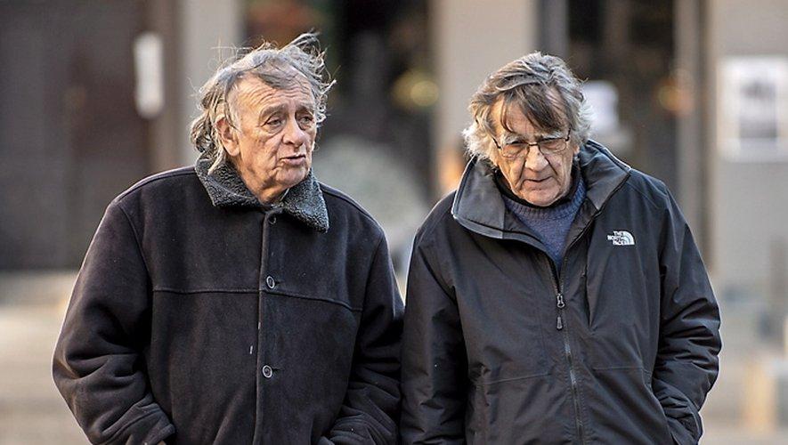 René Duran, aujourd'hui disparu, aux côtés de Jaumes Privat. Photo Claude Foulquier.