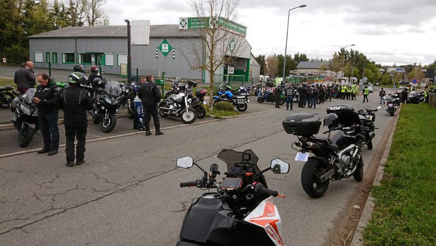 Les motards aveyronnais ont répondu à l'appel de leur fédération nationale.