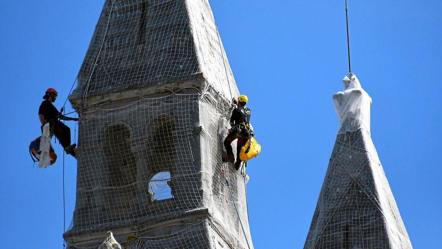 Des grimpeurs sur le Sacré-Cœur
