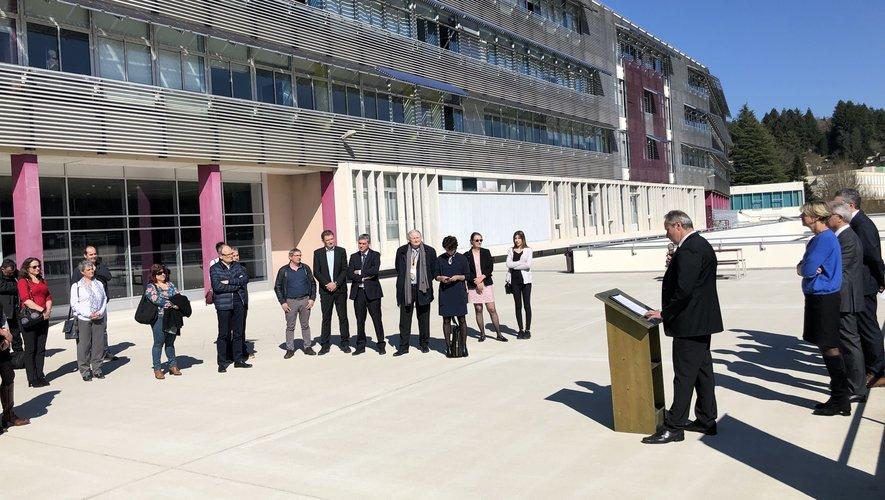 Le lycée de la Découverte de Decazeville à l'occasion de l'inauguration du Campus des métiers du futur en mars 2019./Photo MCB.