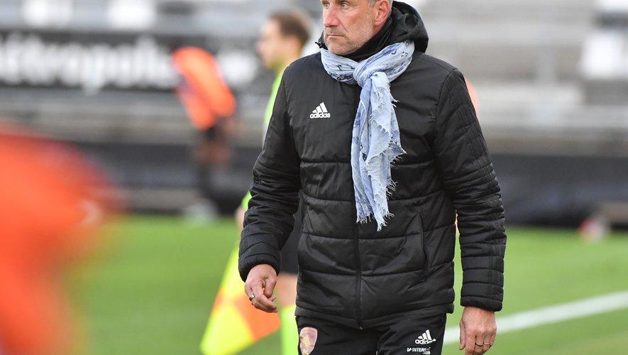 Laurent Peyrelade, déçu et frustré après cette défaite.