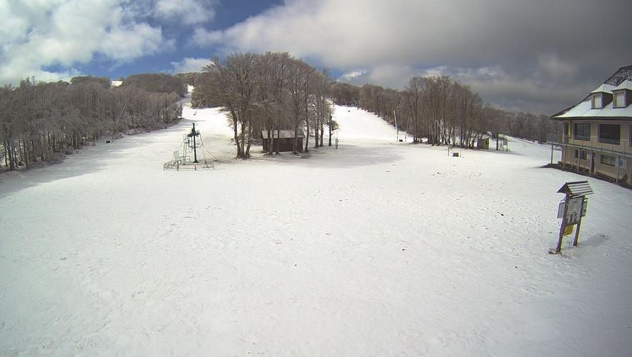 La neige est de nouveau tombée sur l'Aubrac.