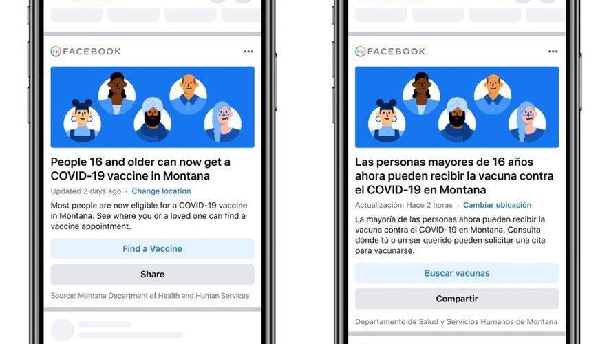 Facebook a annoncé avoir lancé ces notifications dans 50 Etats aux Etats-Unis.