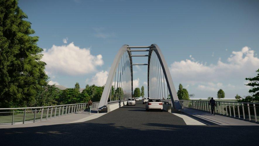 Aperçu du nouveau pont. Voici un aperçu de la physionomie du nouveau pont à Port-d'Agrès. / Photo projection CD (Conseil départemental).
