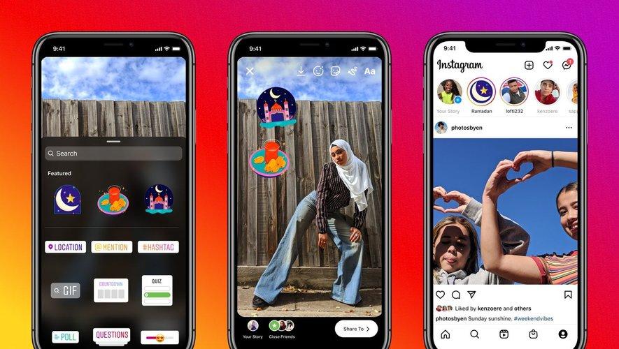 """L'artiste Hala AlAbbasi a déclaré avoir voulu """"apporter de la joie et du bonheur"""" à travers la création de ces stickers spécial Ramadan."""