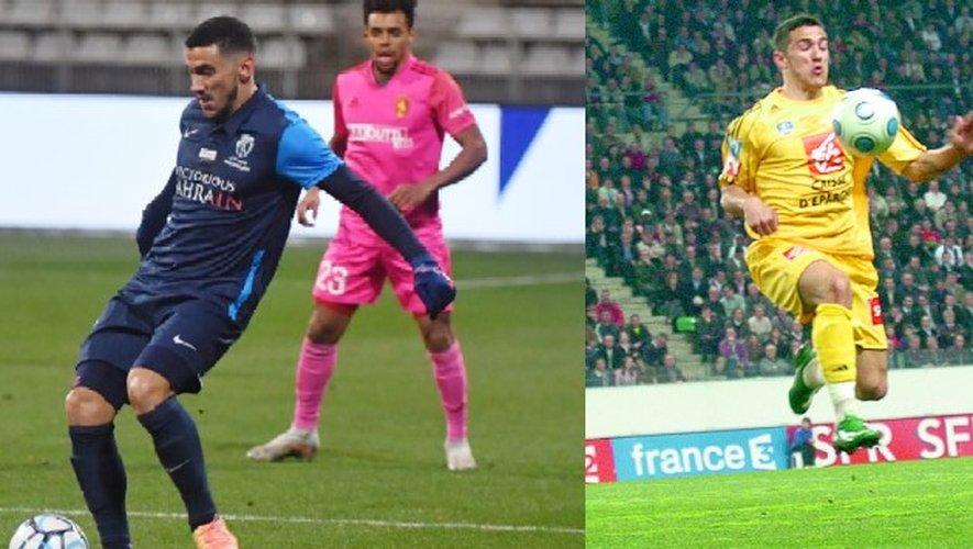 Gaëtan Belaud lors du match aller avec le maillot du PFC (1-1) en décembre dernier (à gauche), onze ans après un quart de finale de Coupe de France historique et perdu (2-0) avec le Raf à Rennes (à droite).