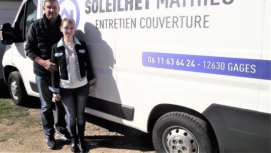Mathieu Soleilhet et son épouse Patricia.