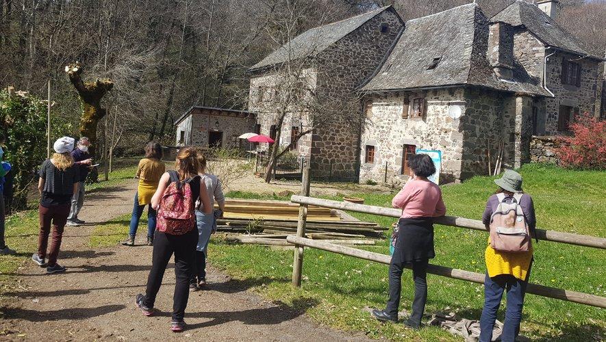 En visite au moulin de Burée.