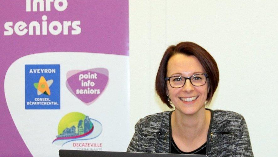 Laury Cayzac, la coordinatrice du point info seniors.