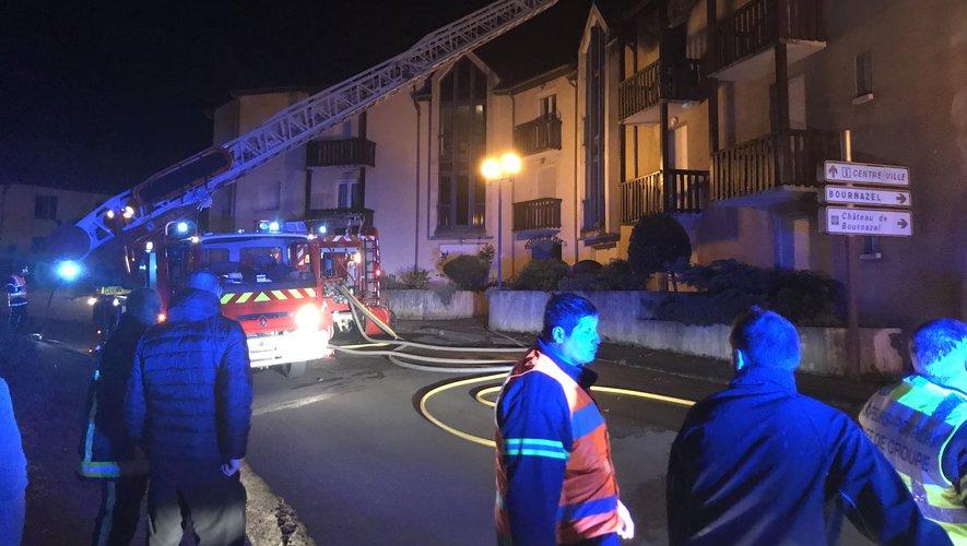 Les pompiers du Bassin et de Montbazens mobilisés jeudi soir.