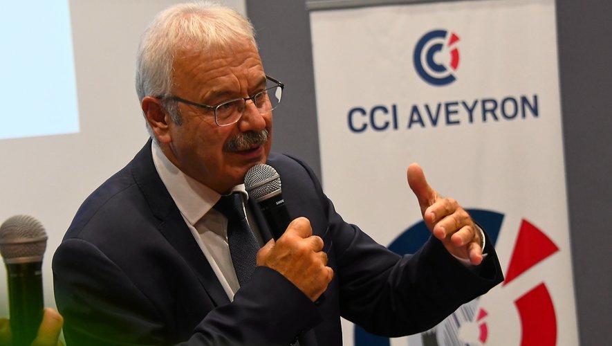 Dominique Costes, président de la CCI de l'Aveyron.
