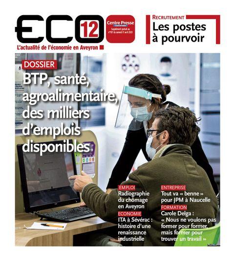 Retrouvez ECO12, dès ce matin, supplément gratuit de votre quotidien Centre Presse.