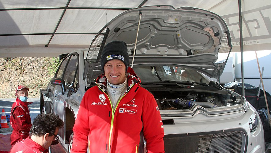 Yoann Bonato a conclu la semaine d'essais de Citroën, vendredi 16 avril.