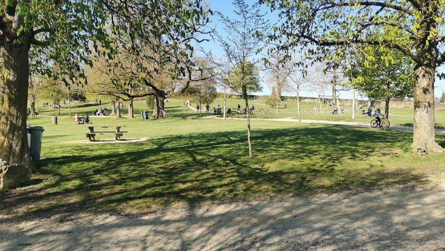 La partie boisée du domaine de Vabre rassemble petits et grands entre les arbres pour un moment de détente bienvenu.