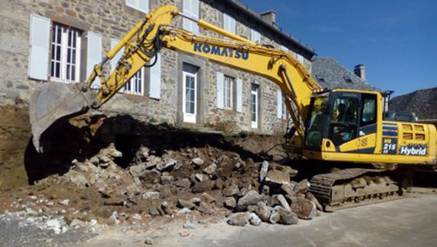 Des travaux de réhabilitation  au cœur du village d'Alpuech