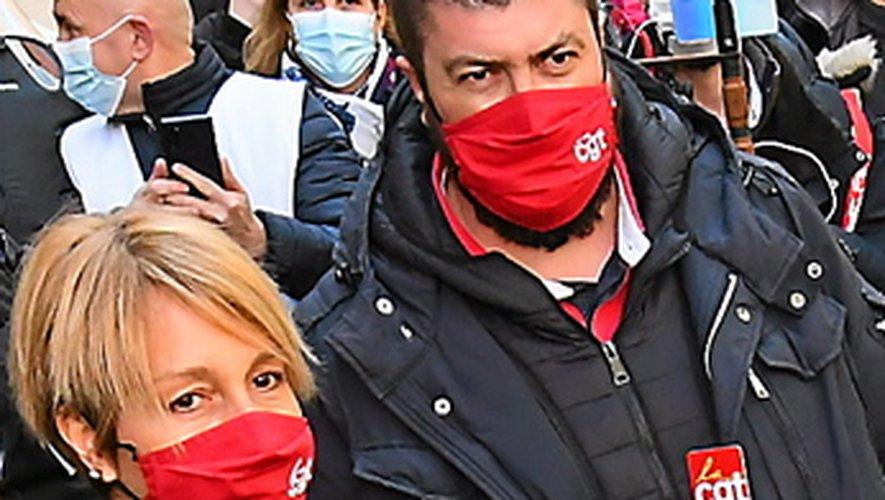 Ghislaine Gistau et Sébastien Lallier, délégués CGT de Sam