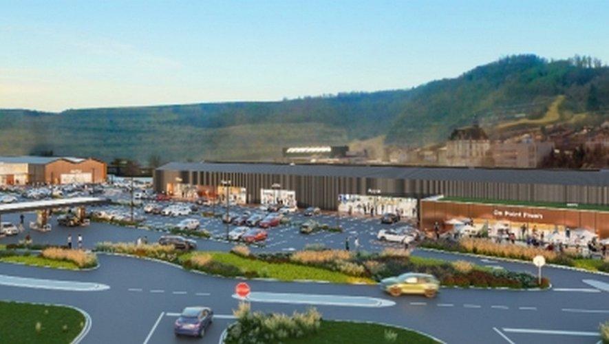 D'ici un an, le futur centre commercial de la zone du Centre devrait ressembler à cela. /