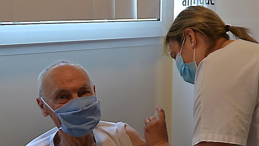 Jean-Claude Hudry, 77 ans, de Villefranche-de-Panat, s'est fait vacciner.
