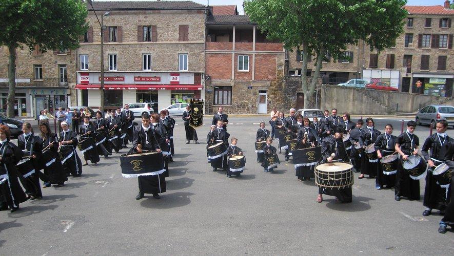 Les tambours d'Utillas lors d'un précédent échange.