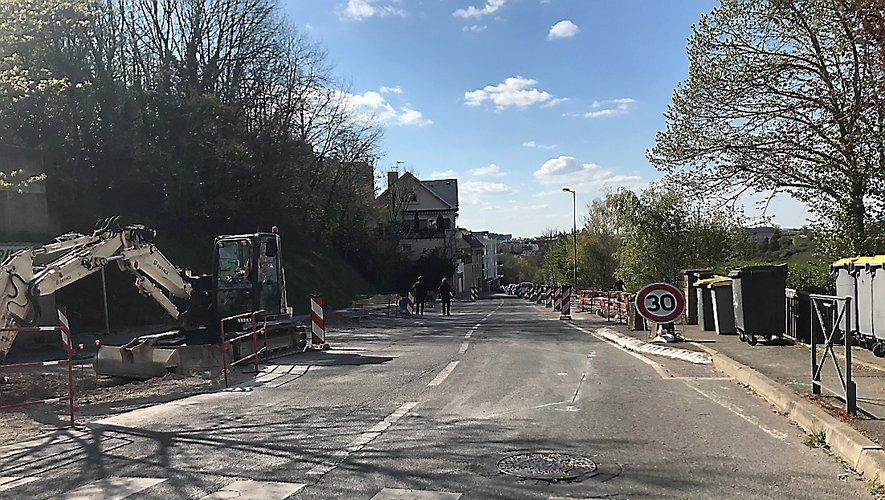 L'aménagement de la route de Moyrazès est porté par la Ville.