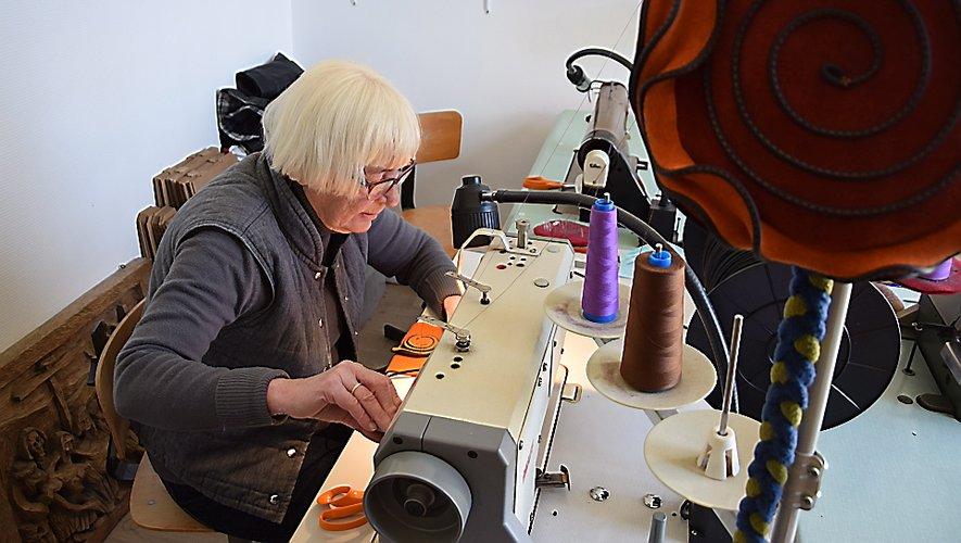 Christine Czorny a transformé un bureau de sa maison en atelier à coudre.