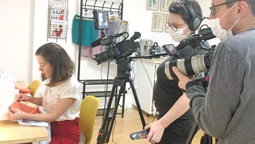 Le tournage pour l'émission Sept à Huit.