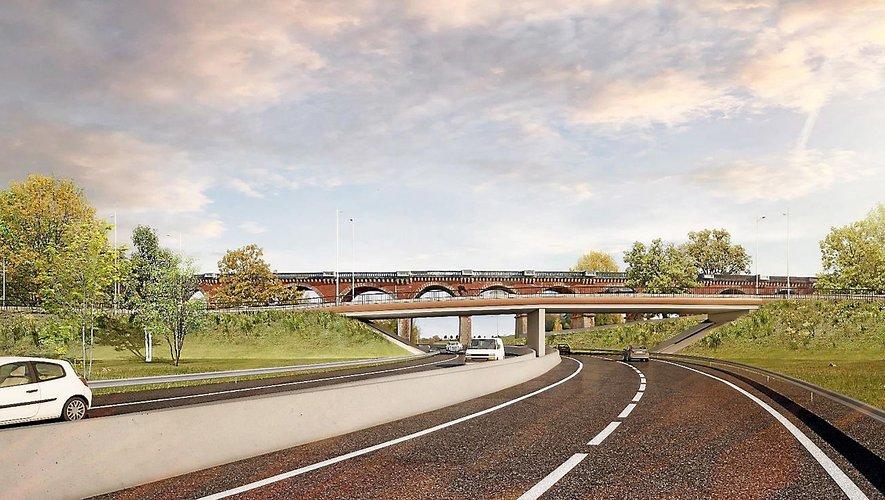 La bretelle de raccordement à la RN88 depuis la RD840 se fera à cet endroit-là et délestera de façon importante le trafic.