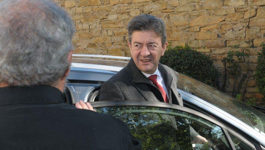 Jean-Luc Mélenchon en Aveyron, en 2014.