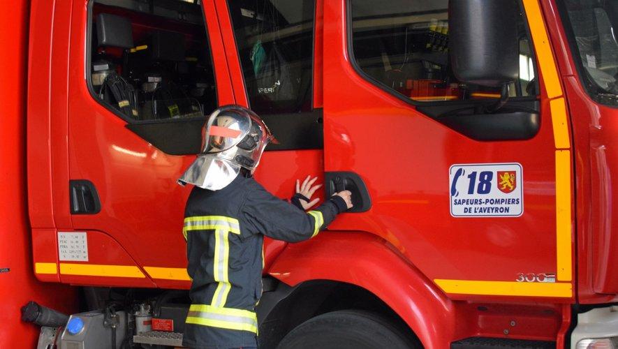 Les sapeurs-pompiers de Villefranche-de-Rouergue sont intervenus sur place.