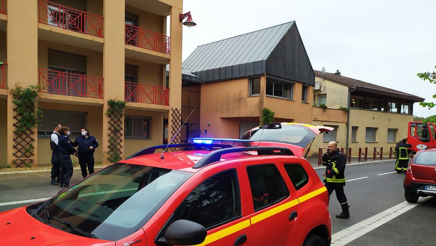 Les pompiers sont rapidement intervenus sur place.