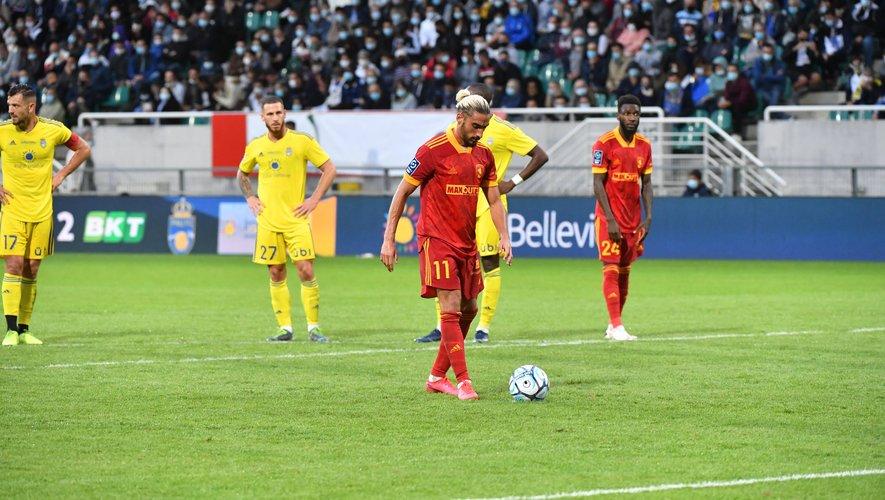 Quatre tireurs différents pour cinq  échecs sur penalty cette saison pour Rodez.