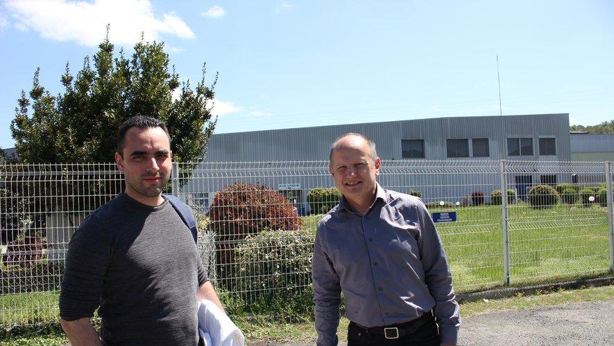 Julien Barbrault, directeur général de Sifa Technologies et Christophe Loth, directeur technique. photo BHSP