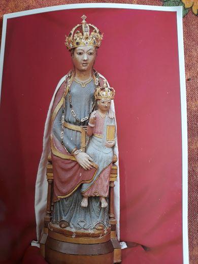 Statue de Notre-Dame de Ceignac qui sera vénérée le samedi 8 mai