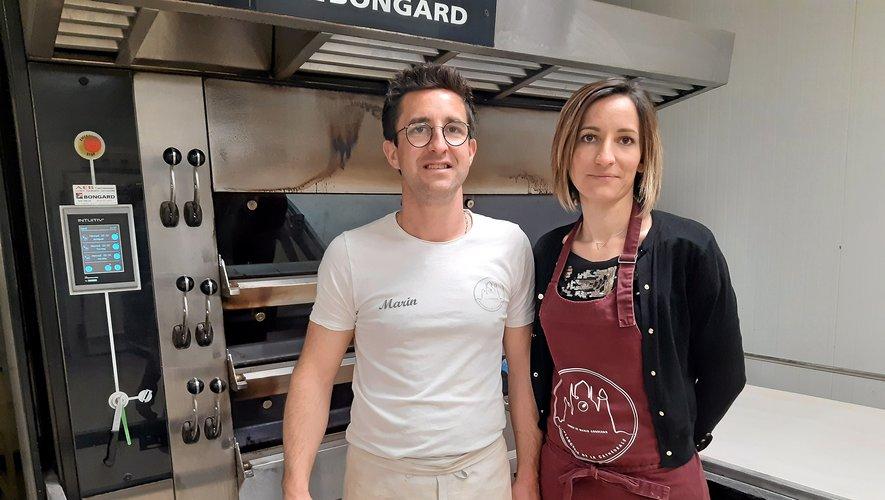 Marin et sa sœur Laurie, à la boulangerie de la cathédrale depuis le 28 décembre.