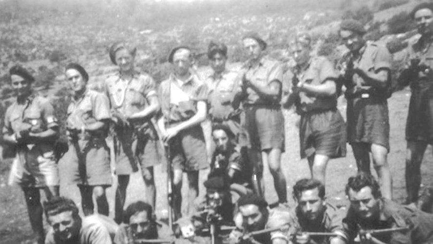 Le groupe du maquis (Photo prise en août 1944).