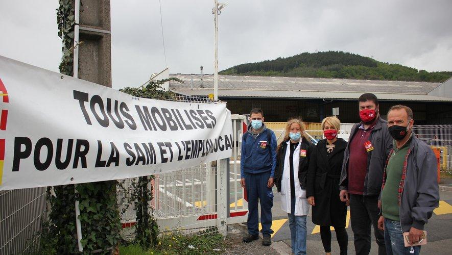 Les représentants CGT du personnel de SAM espèrent voir le bout du tunnel et une issue favorable pour la fonderie viviézoise.