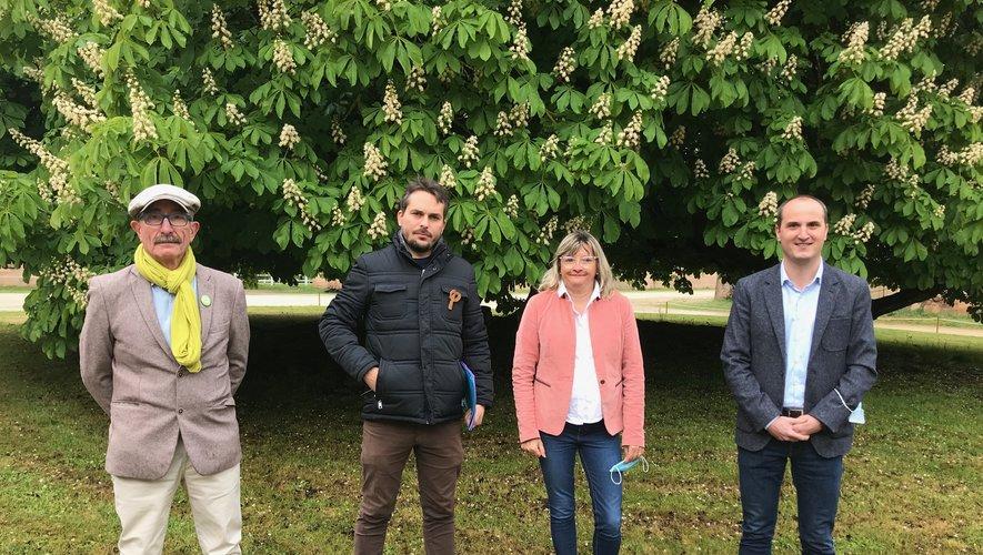 Laurent Renaudin (EELV), Guilhem Sérieys (LFI), Corinne Compan (PCF) et Bertrand Cavalerie (PS).