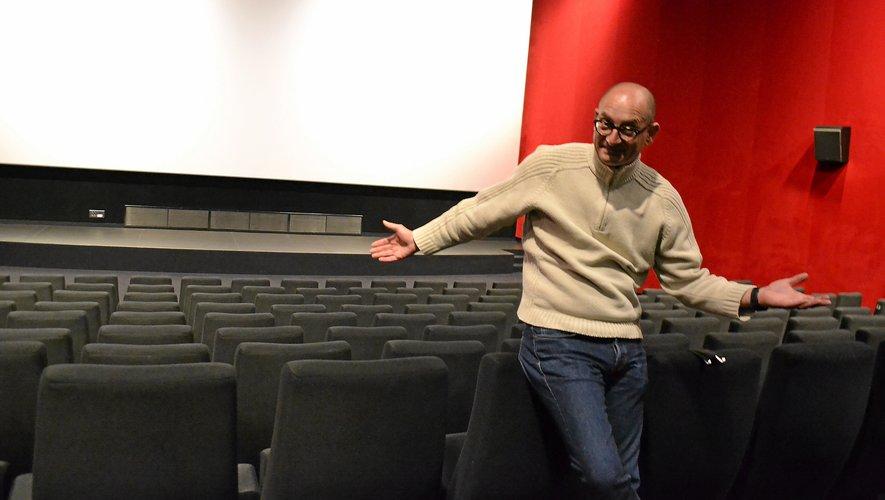 Yann Marie, directeur du cinéma de Rodez, s'impatiente de l'ouverture des salles.