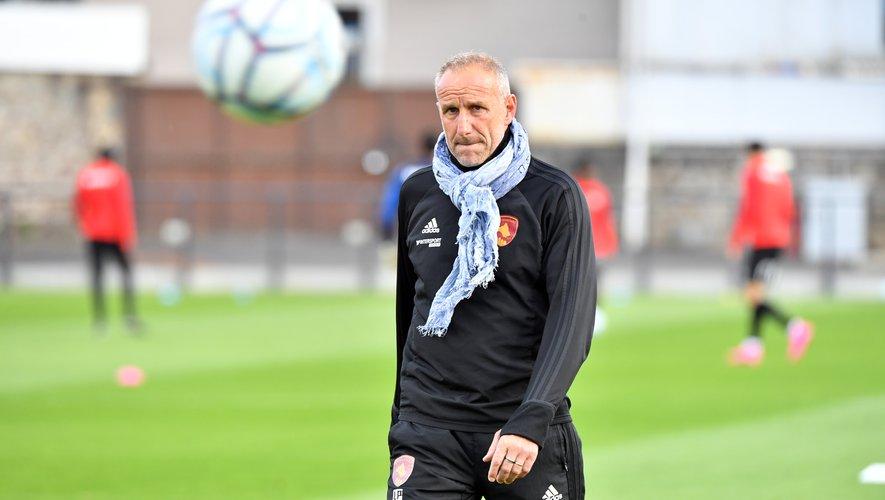 Laurent Peyrelade, l'entraîneur du Raf, soulagé d'avoir assuré le maintien du Raf.