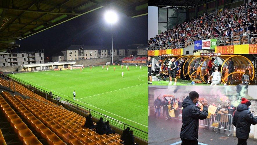 Rodez – Auxerre, 31 octobre: premier match sous huis clos sanitaire. Rodez – Caen, 12 septembre: record d'affluence avec 2494 personnes, sans distanciation. Rodez – Sochaux, 30 janvier: avant-match, les supporters sont là!