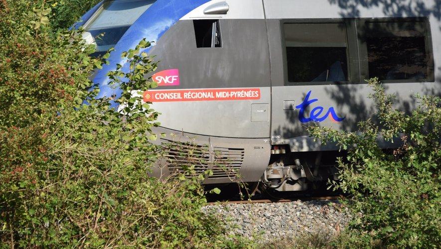 La circulation du TER Rodez - Toulouse perturbée.