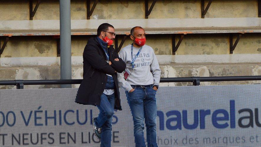 Le président Pierre-Olivier Murat (à gauche) et le manager général Gregory Ursule, en discussion samedi.